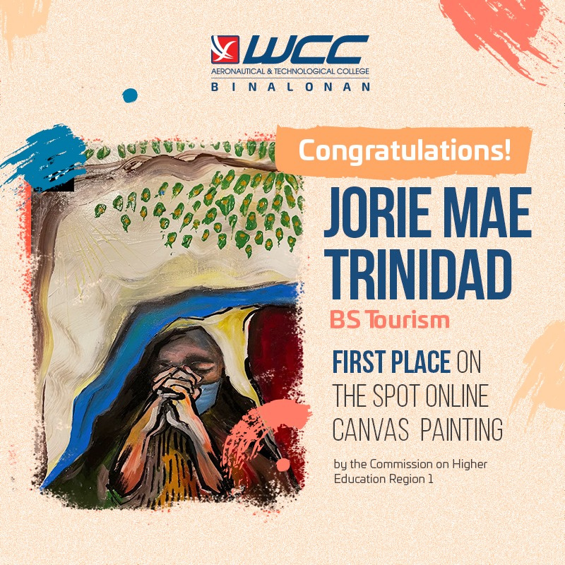 WCC ATC Tourism Student Bags First Place in Online Painting Contest